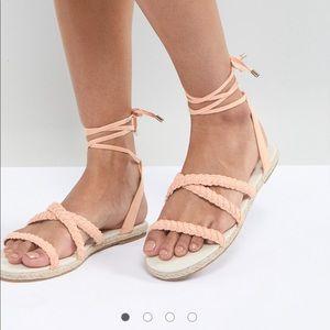Plaited espadrilles sandal